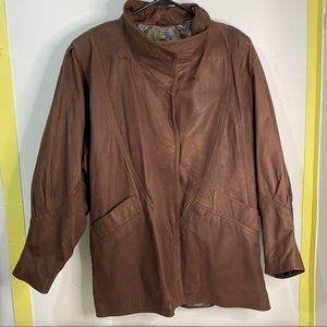 Baja Bill North Beach Leather Brown Jacket Small